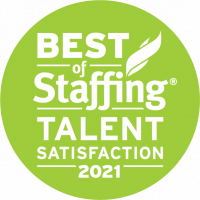 TransTech IT Staffing Award - Best of Staffing Talent Satisfaction 2021